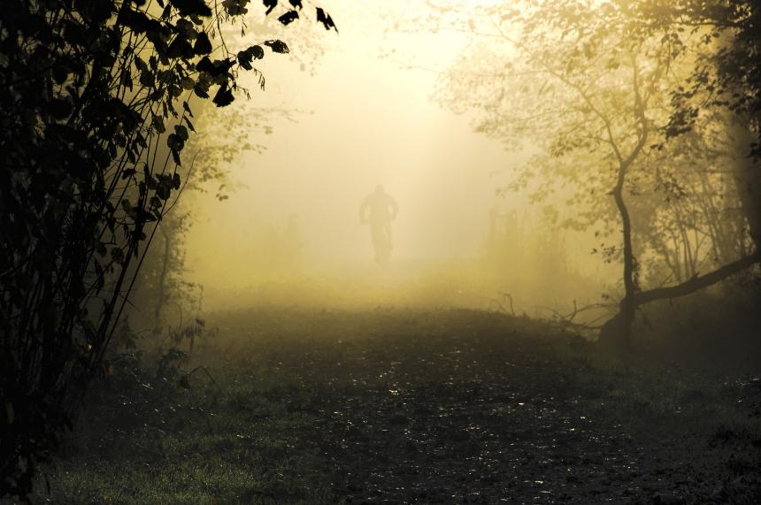 nebbia e bici